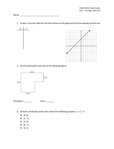 Study Guide- Math 8 SOL Simulation Test