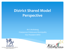 Mofokeng Operational Model of and Effective Audit