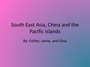 South East Asia, China and the Pacific Islands