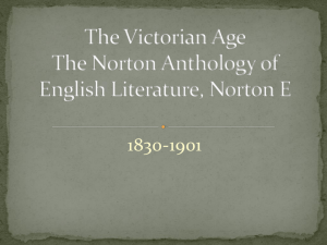The Victorian Age The Norton Anthology of English Literature