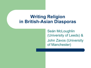 Writing Religion in the British-Asian Diaspora
