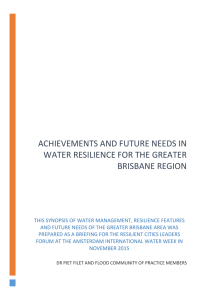 Brisbane Water Resilience Profile