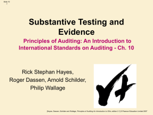 Principles of Auditing: Introduction to ISAs Ch 10