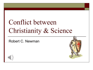 Conflict between Christianity & Science