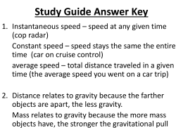 Study Guide Answer Key