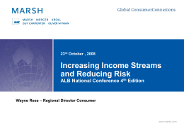 Increasing income streams and reducing risk