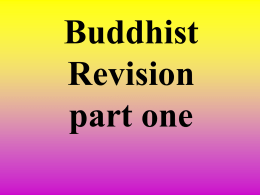 Buddhist Revision Part 1