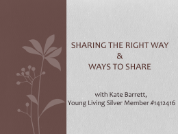 Sharing the Right Way - Restoring Wellness Boutique LLC.
