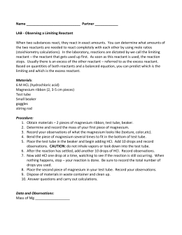 limiting reactant lab report View lab report - 5-limiting-report from chem 2115 at richard stockton is the limiting reactant by testing the supernatant from the solid ba3(po4)2 product prepare a formal lab report for this lab and submit it to moodle when you have finished.
