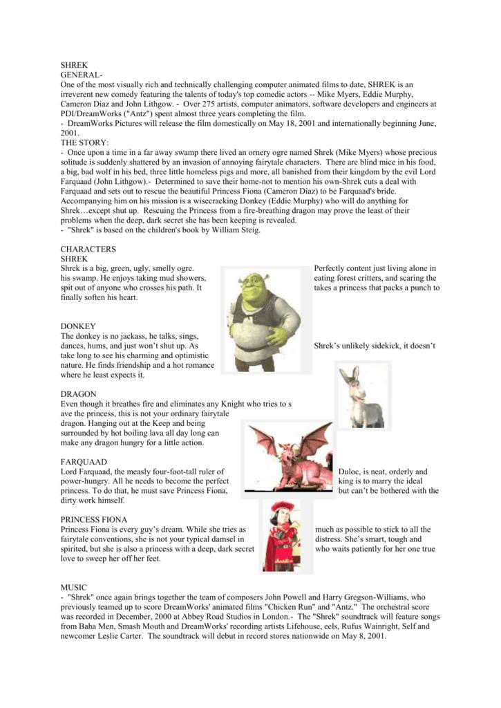 Shrek Screenplay