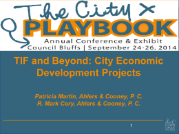 TIF and Beyond - Iowa League of Cities