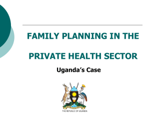 Uganda- Private Sector Involvement in Family Planning
