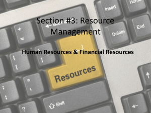 Section #3: Resource Management