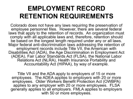 employment record retention requirements