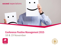 Conference Positive Management 2015