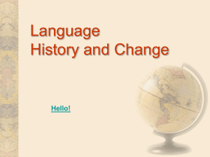 Language: History and Change