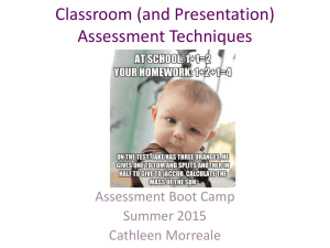 Classroom and Presentation Assessment Techniques