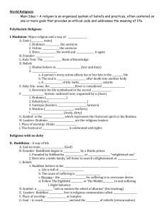 World Religions-outline notes - amanda-armstrong