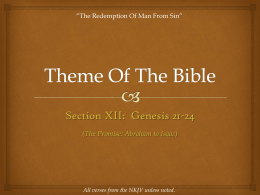 Theme Of The Bible - Revelation And Creation