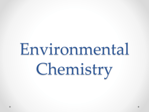 Environmental Chemistry - Ms. Nielsen's Courses Site