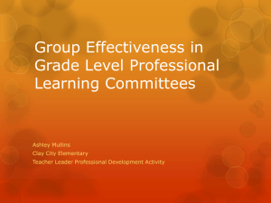 Group Effectiveness in Regards to Grade Level Professional
