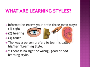Learning styles Powerpoint