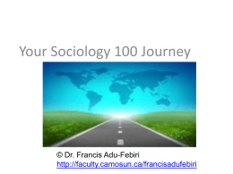 Your Sociology 100 Journey