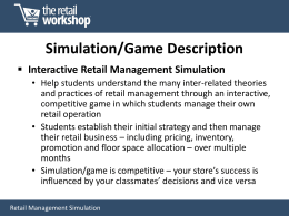 Simulation/Game Description