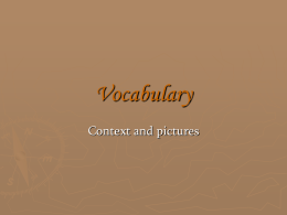 Vocabulary with pictures