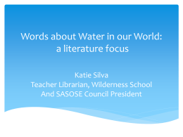 Words about Water