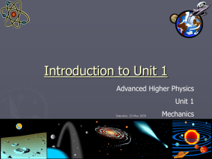 Unit 1 slides - Home - Biggar High School Science
