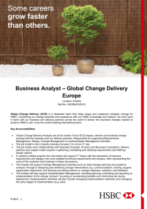 Business Analyst – Global Change Delivery