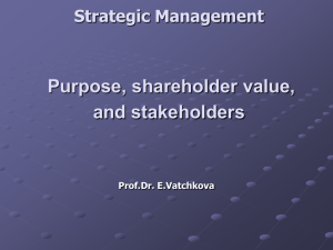 Sources of power for external stakeholders