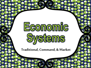 Economic Systems - Effingham County Schools
