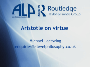 Aristotle on virtue
