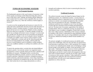 types of economic systems - Libertyville High School