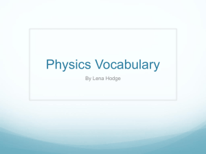 Vocabulary - Lena - Purvis' Science Spot