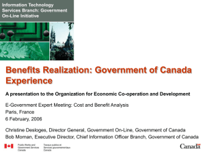 Benefits Realization - Treasury Board of Canada Secretariat