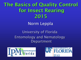 Insect Rearing Quality Control - IPM Florida