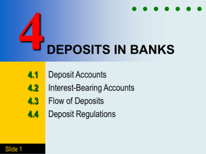 Chapter 4 DEPOSITS IN BANKS