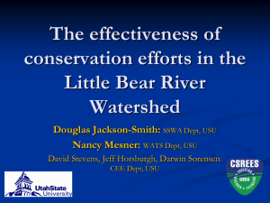 BMP Implementation & Maintenance in the Little Bear River