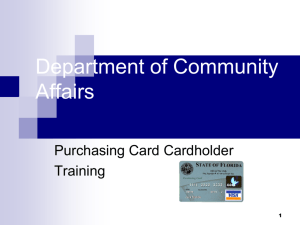 Allowable P-card Purchases