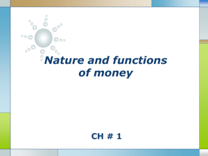 nature and functions of money