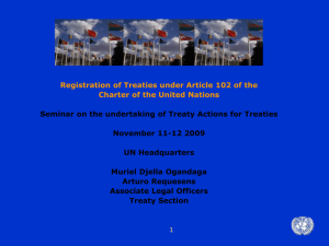 Registration of Treaties under Article 102 of the UN Charter