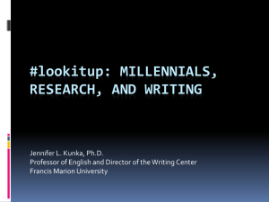 lookitup: Millennials, Research, and Writing