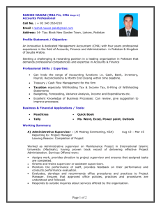 Dubai Resume Template