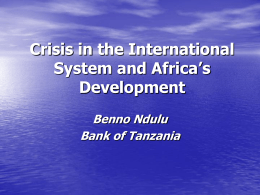 Sustaining African Growth in a Global Financial Crisis