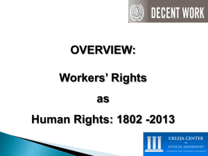 OVERVIEW: Workers' Rights as Human Rights