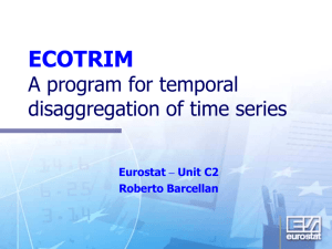ECOTRIM A program for temporal disaggregation of time