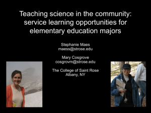Teaching Science in the Community: Service